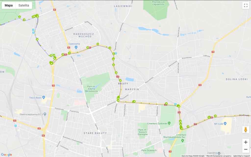 Monitoring GPS Łódź